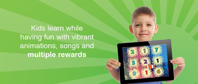 Kids learn while having fun with vibrant animations, songs and multiple rewards