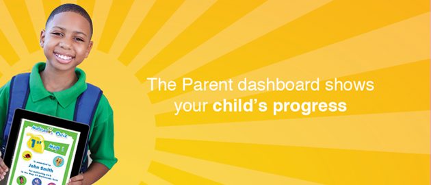 The Family Dashboard shows your child's progress