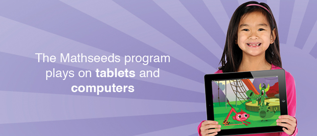 The Mathseeds program plays on tablets and computers