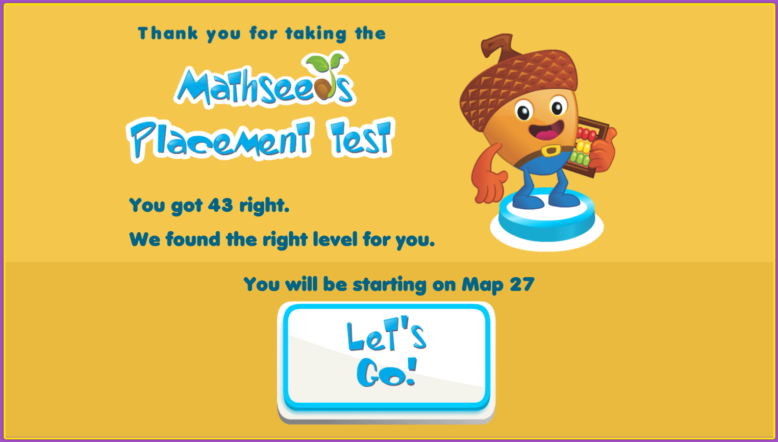 Mathseeds driving test screenshot