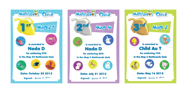 Mathseeds certificates
