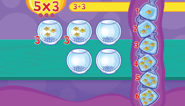 Mathseeds multiplication game screenshot