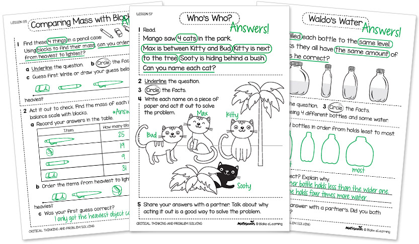 examples of math toolkit for problem solving